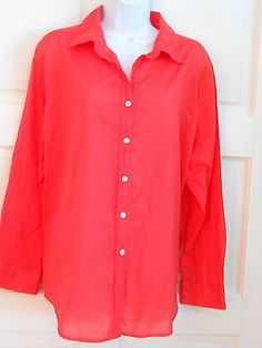 womans top shirt coral sz 18w charter club office work casual