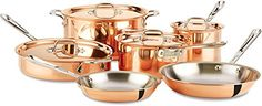 AllClad CD0010 C2 COPPER CLAD Cookware Set with Bonded Copper Exterior 10Piece Copper * See this great product.