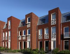 608 Concrete, Brick, Multi Story Building, Van, Exterior, Modern, Green, Design, Bricks