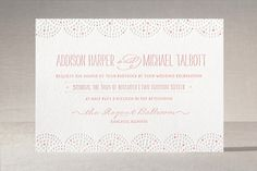 Beaded Letterpress Wedding Invitations by Laura Hankins at minted.com