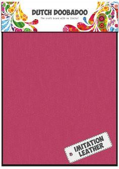 456.070.019 Dutch Doobadoo Fabric Art Imitatie Leather Pink