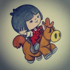 Sketchbook fun :) #sketchbook #horse #bubblefriends