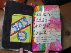 wreck this journal tear this page out put it through the wash