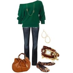 Green and Leopard Tory Burch :)