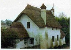 Another Devon, England Cob House, reed thatch roof | Cob Cottage ...