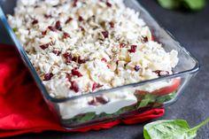 Przekładana sałatka z pomidorów i szpinaku ⋆ M&M COOKING Grilling, Grains, Salads, Rice, Cooking, Recipes, Food, Kitchen, Crickets