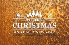 Qdiz Stock Photos | Merry Christmas and New Year greeting card,  #background #blur #blurred #card #celebration #Christmas #eve #frozen #gold #greeting #holiday #Merry #new #postcard #retro #season #snowflake #traditional #vintage #winter #xmas #year #yellow