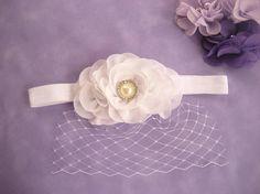 Christening Headband Classic Baby Baptism Headband ..