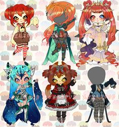 CUSTOM ADOPTABLES by Lolisoup.deviantart.com on @DeviantArt