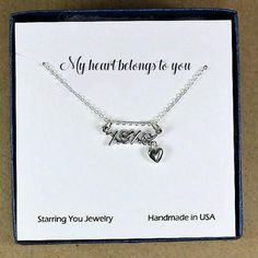 Sterling Silver XOXO Necklace: Gift idea for her