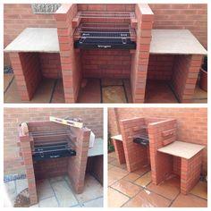 No photo description available. Fire Pit Backyard, Backyard For Kids, Backyard Bbq, Backyard Projects, Garden Bbq Ideas, Barbecue Garden, Patio Ideas, Outdoor Barbeque, Outdoor Oven