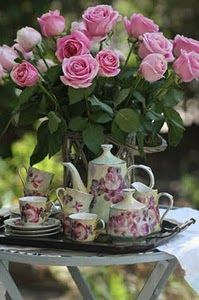 A Beautiful tea party!! We always try to sit and share happiness while having tea!