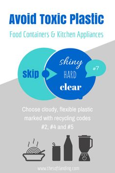 How to Avoid Toxic Chemicals in Food Containers and Kitchen Appliances www.thesoftlanding.com