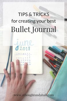 My bullet journal routine + tips and tricks for creating one that works for you! #bulletjournal