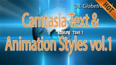 """Camtasia Text and Animation Styles Volume 1"""" is a collection of 10 useful texts and animations that you can import and use directly in Camtasia Studio 8."""