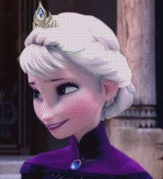 Awesome frozen .gif, Elsa changing into Elsa! I just love how you can tell she wants to be smiling in the second half :D
