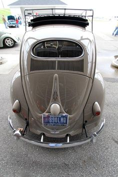 '57 Oval beetle. Love the pinstripe on the back....