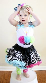 Funky Zebra Cupcake Couture Birthday Pettiskirt Set...LOVE to make this for Kissi's b-day but for for an older girl..SOOOOO ADORABLE!!