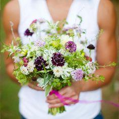 Unique Wedding Ideas: Just-Picked Wedding Flowers - 15 New and Unique Wedding Ideas - Shape Magazine