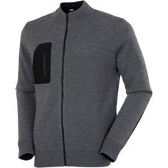 Sunice Golf Burbank Windstopper Mens Golf Sweater Charcoal