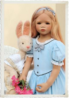 """Lilith in my version of an """"Alice in Wonderland"""" dress 