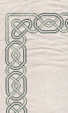 Celtic border, You can cause really specific habits for fabrics with cross stitch. Cross stitch models can almost amaze you. Cross stitch beginners can make the models they want without difficulty. Celtic Border, Celtic Cross Stitch, Tiny Cross Stitch, Beaded Cross Stitch, Cross Stitch Alphabet, Modern Cross Stitch, Cross Stitch Designs, Cross Stitch Embroidery, Cross Stitch Patterns