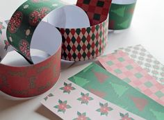 Old Fashioned Christmas Paper Chain - INSTANT DOWNLOAD
