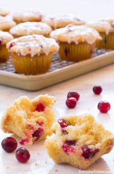 Lemon cranberry muffins recipe