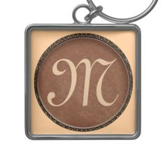 """Monogrammed Keychains for Men.  Type in HIS Monogram in the TEXT BOX. You can also choose a less expensive Monogrammed Keychain.  Personalization Gifts. http://www.zazzle.com/littlelindapinda/gifts?cg=196011228045420884&rf=238147997806552929    Easy to use Templates.  Click """"Change"""" to Upload YOUR PHOTO  and type in YOUR TEXT into the TEXT BOX(es).  ALL of Little Linda Pinda Designs CLICK HERE: http://www.Zazzle.com/LittleLindaPinda*"""