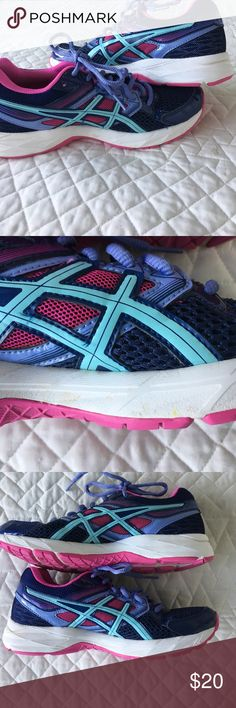 MultiColor Asics Great condition • Slight discoloration pictured • Make an offer or bundle for discount Asics Shoes Athletic Shoes