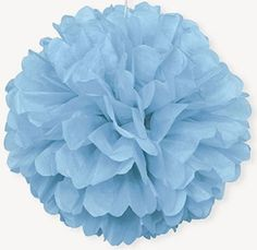 Baby blue paper puff dec http://www.wfdenny.co.uk/p/baby-blue-puff-ball-decoration/5595/