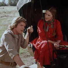 Laura (Melissa Hilbert) y Almanzo (Dean Butler), en la ficción.