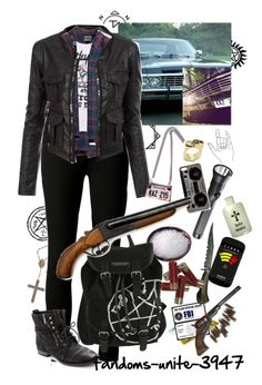 """Supernatural: Human Impala"" by fandoms-unite-3947 ❤ liked on Polyvore featuring Mode, Doublju, Monserat De Lucca, Zero Gravity, Michael Kors, ...Lost und Sam Edelman"