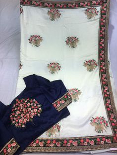 Crepe silk saree with semi stitched blouse For price WhatsApp :+919100476654 Check our fb :m.facebook.com/aditieliteboutique/