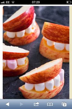 apple mouths halloween food