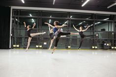 Students in ballet class at Chaffey College. (Photo by Jeff Harris, courtesy Michele Jenkins)