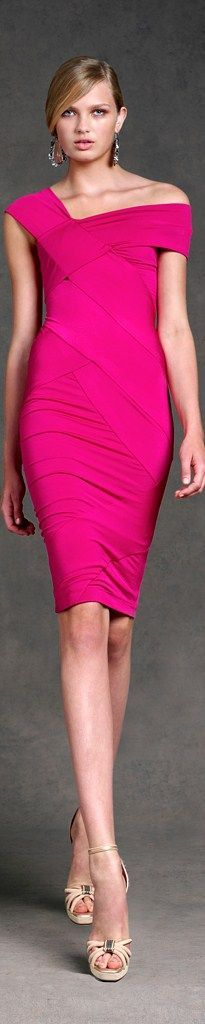 Donna Karan pink dress @roressclothes closet ideas women fashion outfit clothing style apparel