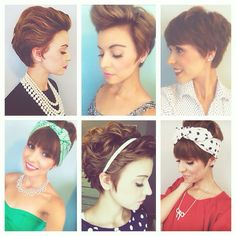 My recent favorite ways to style my growing out pixie! emma_gustavson