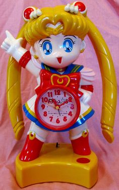 Sailor Moon Super s Huge Vintage Japanese Talking Alarm Clock Figure Doll Toy | eBay