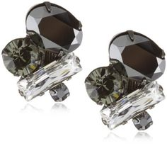 """Sorrelli """"Midnight Moon"""" Crystal Cluster Clip Earrings Sorrelli. $70.00. Store in a dry place. Made in China"""