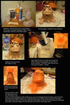 diy // sculpture // Silicone Caulk as a molding material