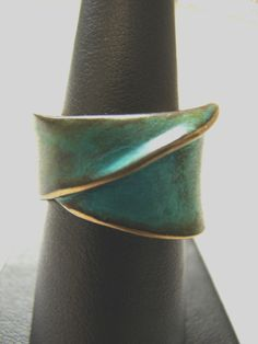 ROBERT LEE MORRIS BEAUTIFUL GREEN PATINA ANTIQUED GOLD PLATED DESIGNER RING http://www.ebay.com/itm/ROBERT-LEE-MORRIS-BEAUTIFUL-GREEN-PATINA-ANTIQUED-GOLD-PLATED-DESIGNER-RING-/311460080274?ssPageName=STRK:MESE:IT