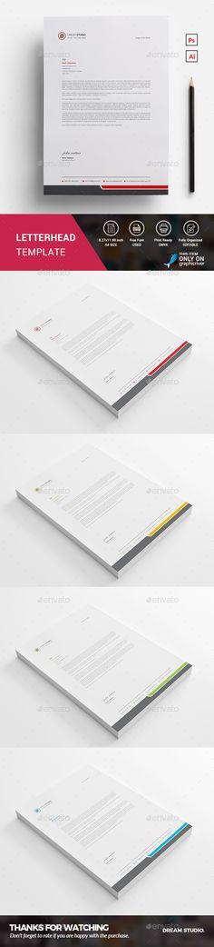 Letterhead Letterhead, Letterhead template and Letterhead design - corporate letterhead template