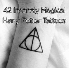 42 Insanely Magical Harry Potter Tattoos (The Deathly Hallows worded back tattoo is AMAZING!!)