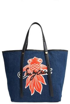 See By Chloe Applique Denim Tote - Blue See By Chloe be2ad401fcdcd