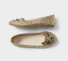 Glitter cat ballet flats | Gap Kids http://fave.co/2c08JyN