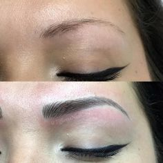 Semi or Easy Eyebrow Tattoo: Cost Hair Stroke Eyebrows, Eyebrows Goals, Eyebrows On Fleek, Tattoo Eyebrows, Eyelashes, Permanent Makeup Eyebrows, Eyebrow Makeup, Skin Makeup, Permanent Eyebrow Tattoo