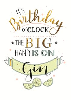 Gin O'Clock Birthday Greeting Card | Cards | Love Kates