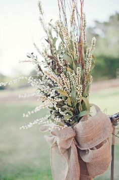 ♡ Pink, rustic, #country #wedding Chair decor ... For wedding ideas, plus how to organise an entire wedding, within any budget ... https://itunes.apple.com/us/app/the-gold-wedding-planner/id498112599?ls=1=8 ♥ THE GOLD WEDDING PLANNER iPhone App ♥  For more wedding inspiration http://pinterest.com/groomsandbrides/boards/ photo pinned with love & light, to help you plan your wedding easily ♡