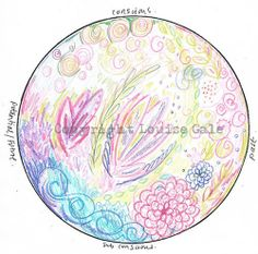 "Full moon mandala ""under the sea"" http://louisegale.com/2012/07/meditation-full-moon-mandala-full-sturgeon-moon-aug-1st/"